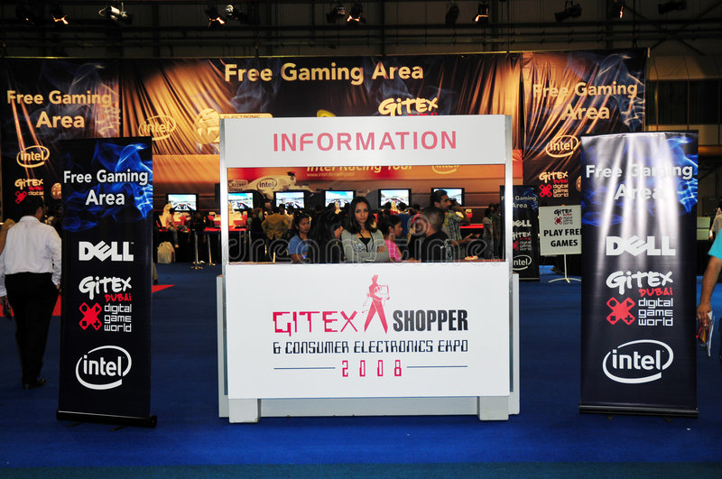 Gitex Shopper 2008 - Information In Gaming Area Editorial Stock Photo