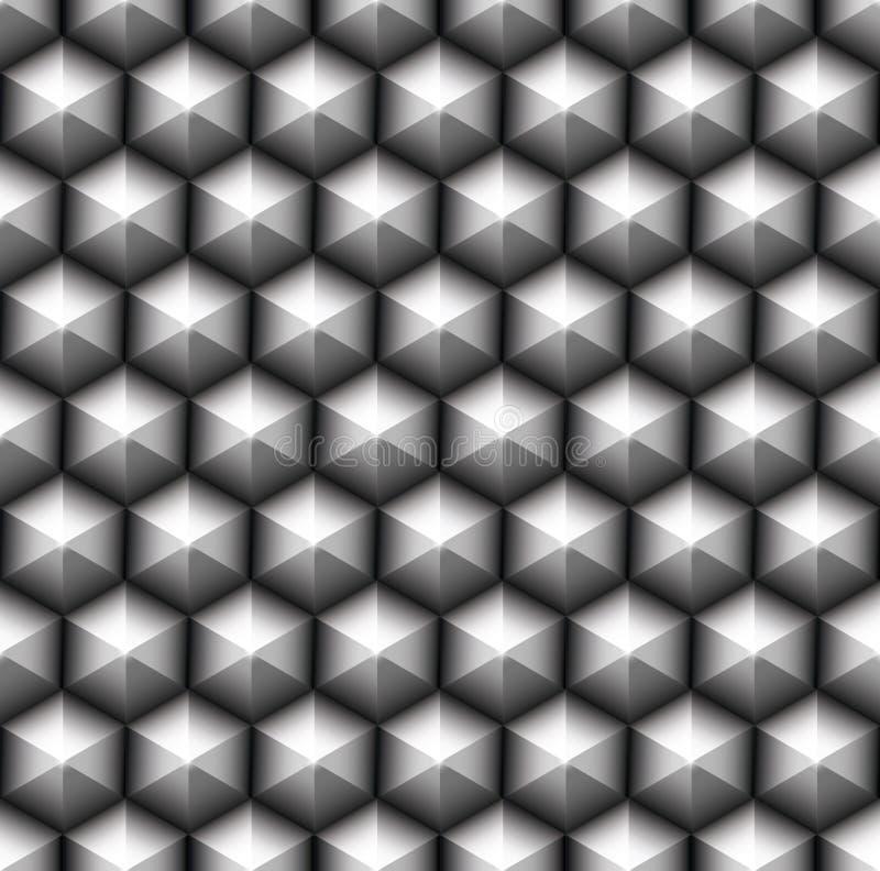 Gitter der nahtlosen Hexagone lizenzfreie abbildung