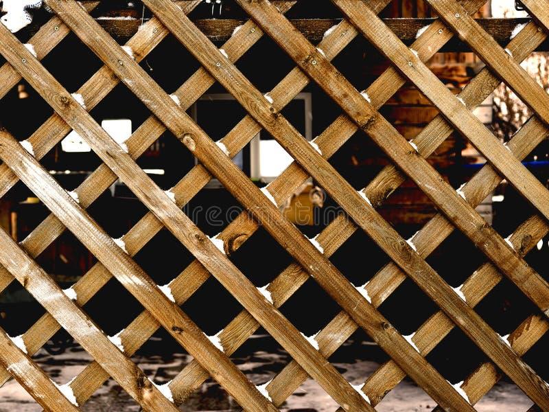 Gitter gemacht von den hölzernen Latten lizenzfreie stockfotos