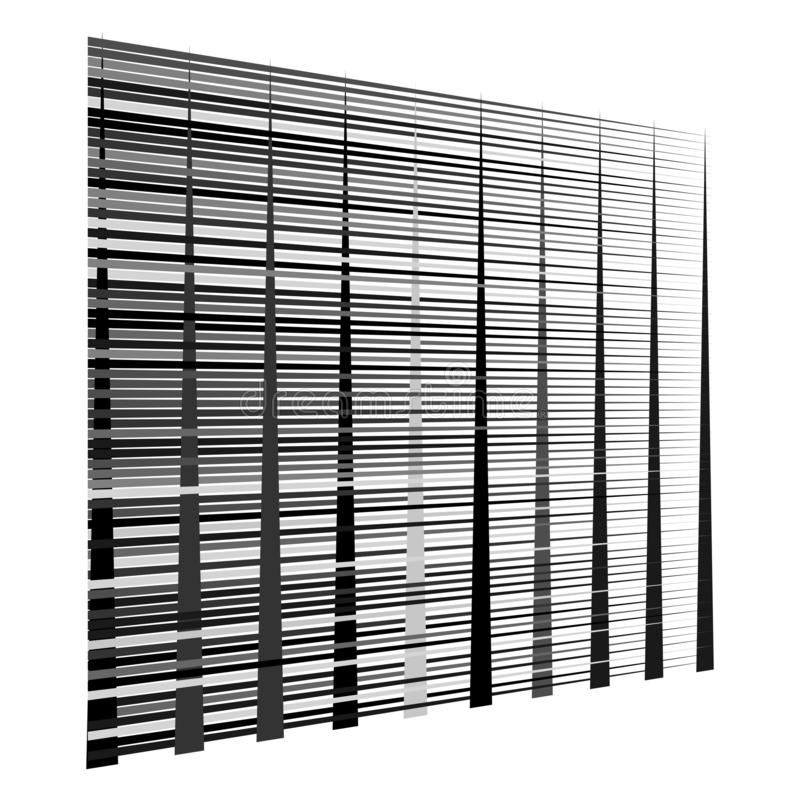 Gitter, Maschenmuster Zellulär, retikulär, Gitter Keks, Überlappungslinien Zwischengeraden, parallele Streifen stock abbildung