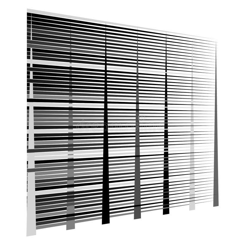 Gitter, Maschenmuster Zellulär, retikulär, Gitter Keks, Überlappungslinien Zwischengeraden, parallele Streifen lizenzfreie abbildung