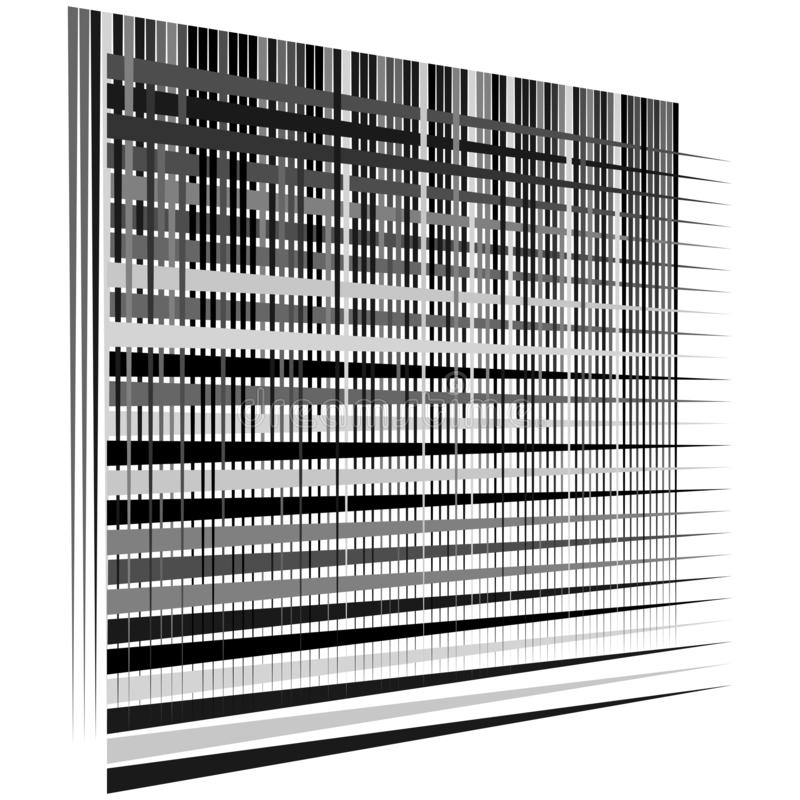 Gitter, Maschenmuster Zellulär, retikulär, Gitter Keks, Überlappungslinien Zwischengeraden, parallele Streifen vektor abbildung