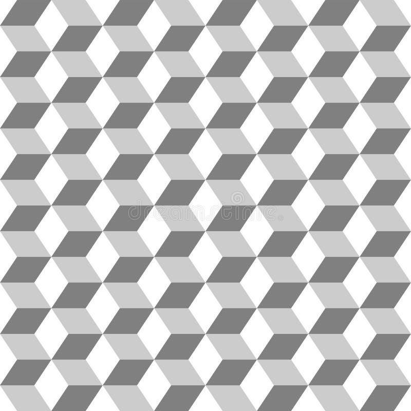 Gitter vom nahtlosen einfarbigen Hintergrund der Hexagone stock abbildung
