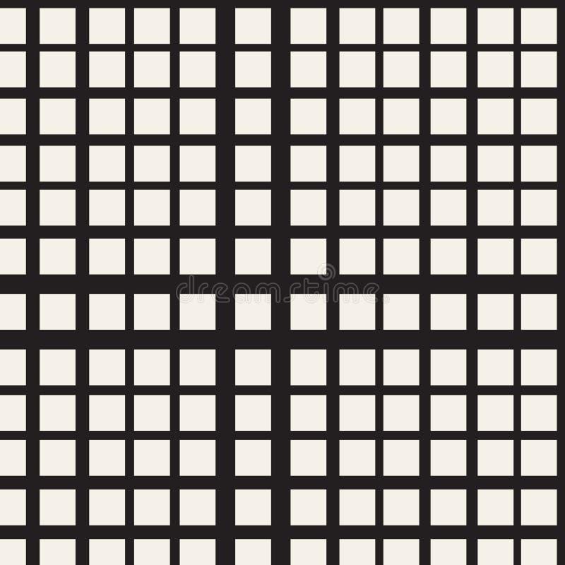 Gitter von schneidenen Linien Abstrakte nahtlose Muster lizenzfreie abbildung