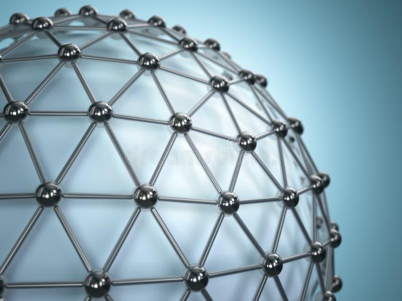 Gitterbereich Konzept des Moleküls entziehen Sie Hintergrund lizenzfreie abbildung