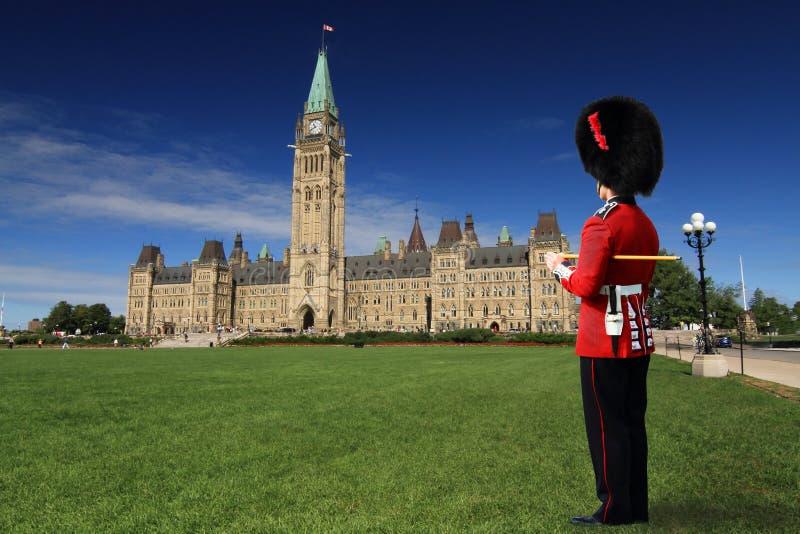 Guard at Parliament Hill, Ottawa stock image