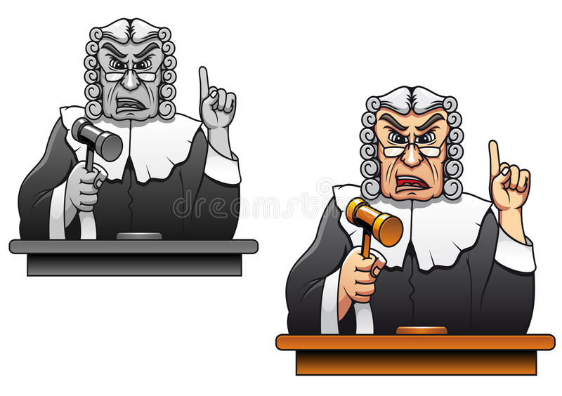 Giudice con il martelletto illustrazione di stock
