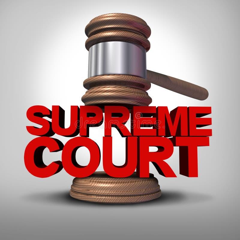 Giudice della corte suprema Symbol illustrazione vettoriale