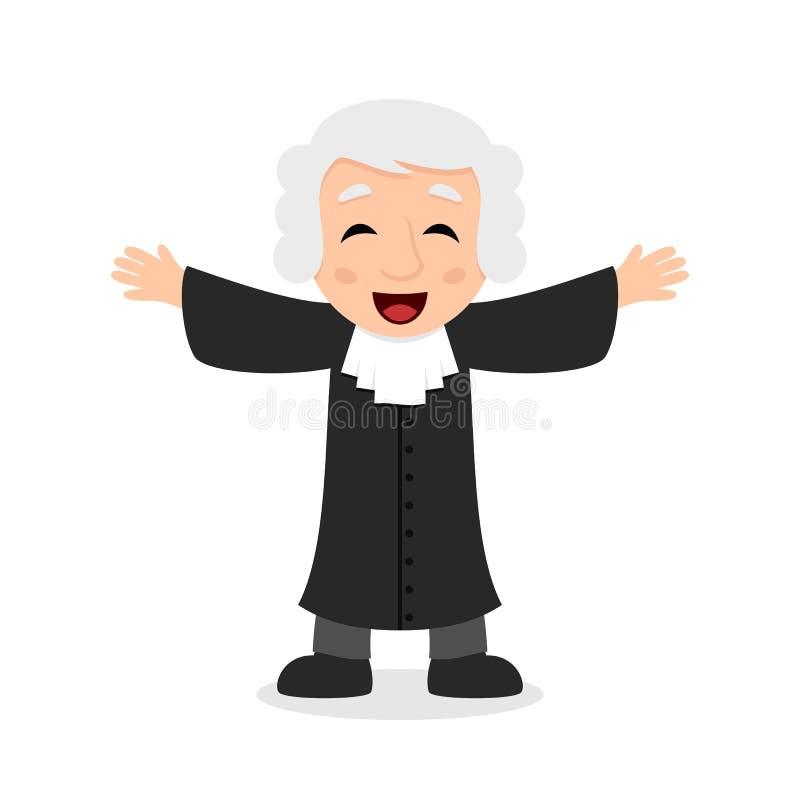 Giudice di risata Cartoon Character royalty illustrazione gratis