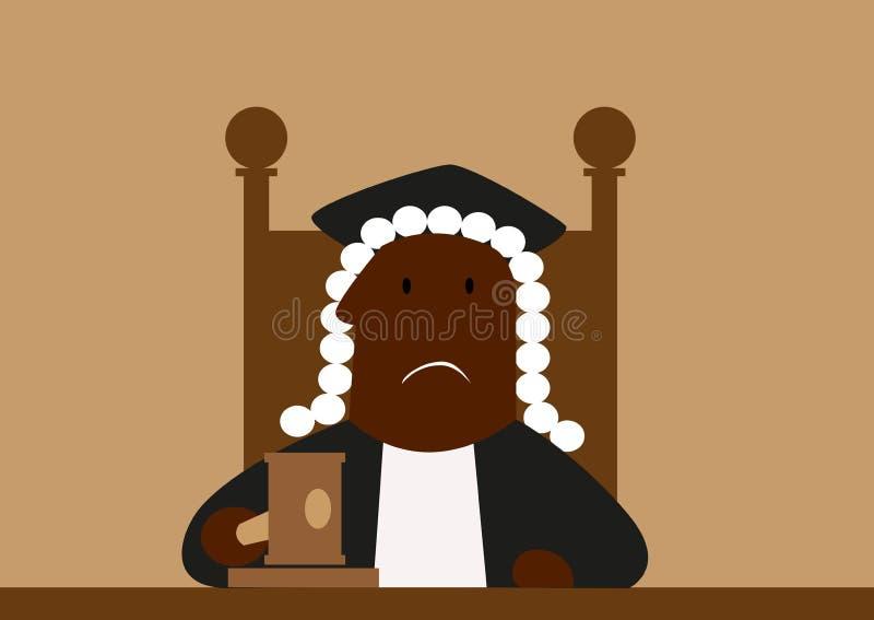 Giudice nella sua parrucca che giudica royalty illustrazione gratis