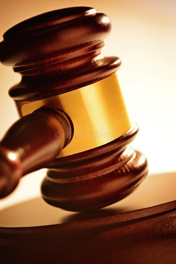 Giudice o martelletto dei banditori immagini stock libere da diritti