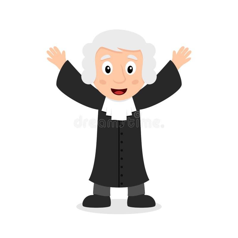 Giudice sorridente Cartoon Character royalty illustrazione gratis