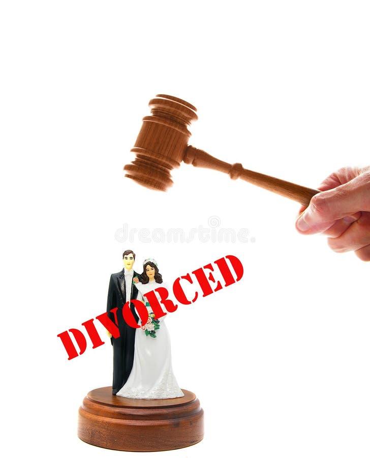 Giudizio di divorzio fotografie stock