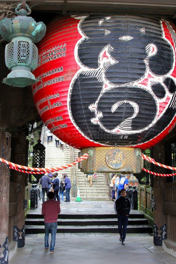 Giugno 2018, estasi il vecchio tempio buddista di Shinshoji delle grandi decorazioni del pallone, Narita, Giappone fotografie stock libere da diritti