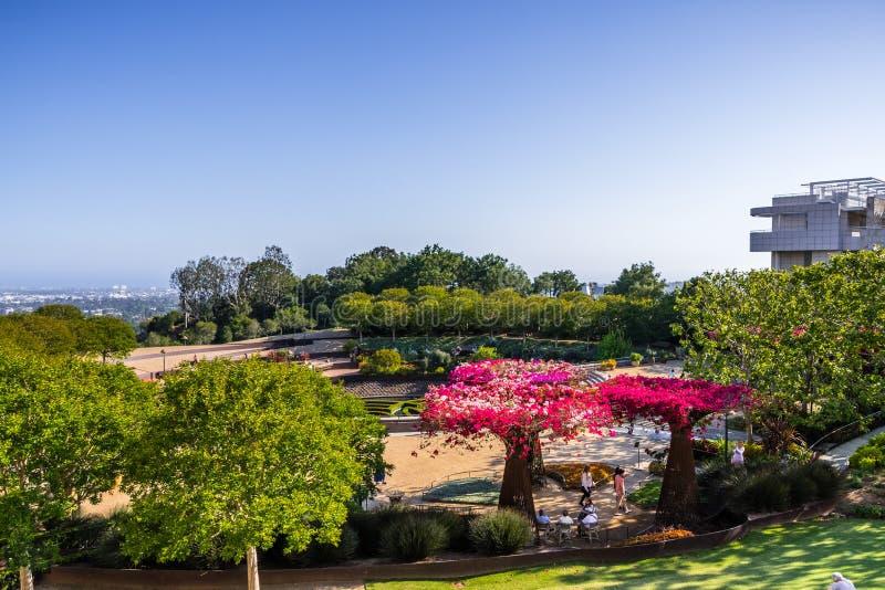 8 giugno 2018 Los Angeles/giardino centrale di CA/U.S.A. - di Robert Irwin al centro di Getty immagine stock