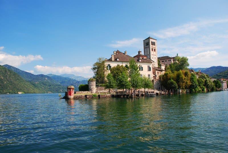 giulio wyspy Italy jeziorny orta San fotografia stock