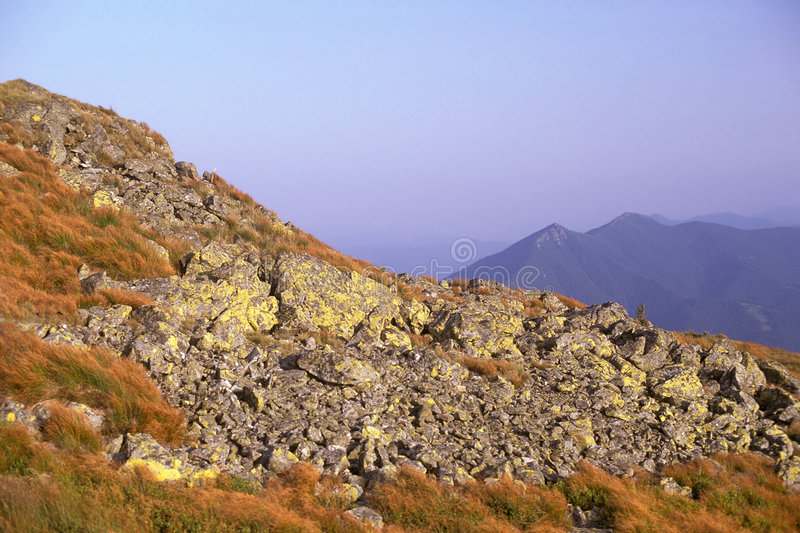 Giumalau mountains. In autumn, Eastern Carpathians, Romania royalty free stock images