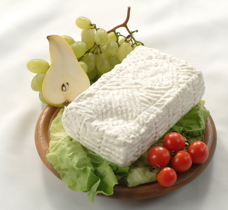 Giuncata - representante italiano do queijo do leite de vaca imagem de stock royalty free