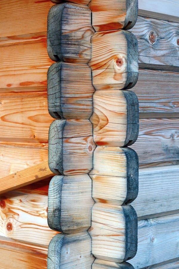 Giunto di legno della parete immagine stock immagine di for Planimetrie della casetta di legno