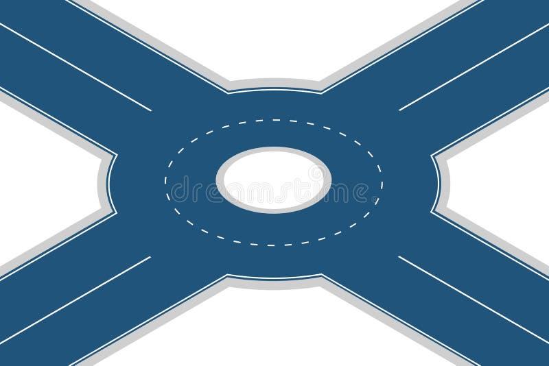 Giunzione vuota della rotonda isolata su fondo bianco Illustrazione isometrica 3D di vettore illustrazione vettoriale