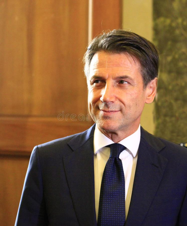 Giuseppe Conte foto de archivo libre de regalías