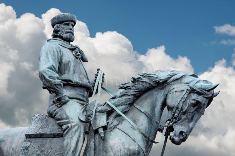 Giuseppe Garibaldi, de Held van Twee Werelden stock afbeelding