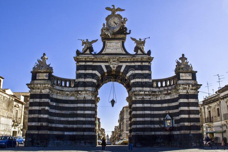 Giuseppe Garibaldi Door. Called also Port of King Ferdinand stock photos