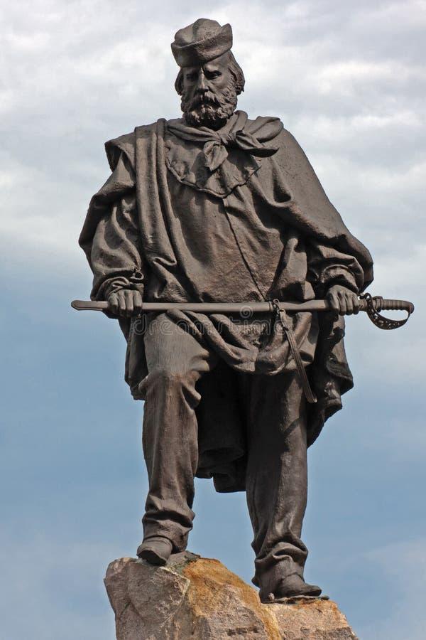 Giuseppe Garibaldi. The monument to Giuseppe Garibaldi (1807-1882) in Turin, executed by OdoardoTabacchi (1831-1905 stock image