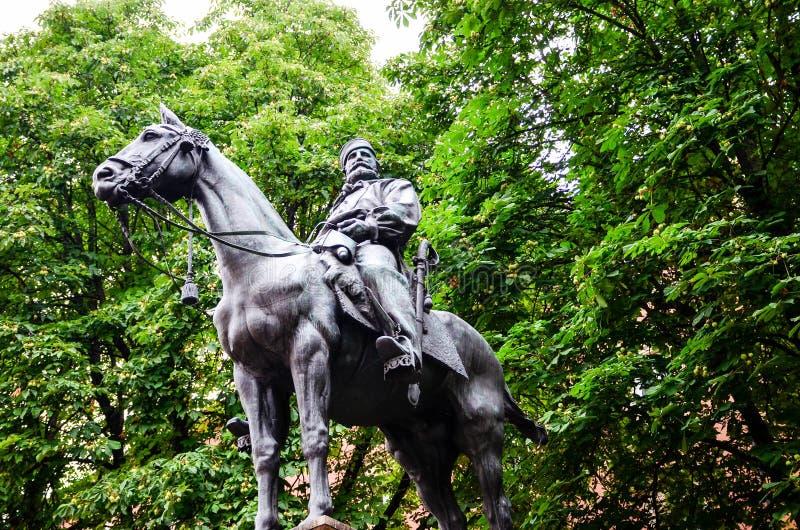 Giuseppe Garibaldi przy Bologna Włochy zdjęcia stock