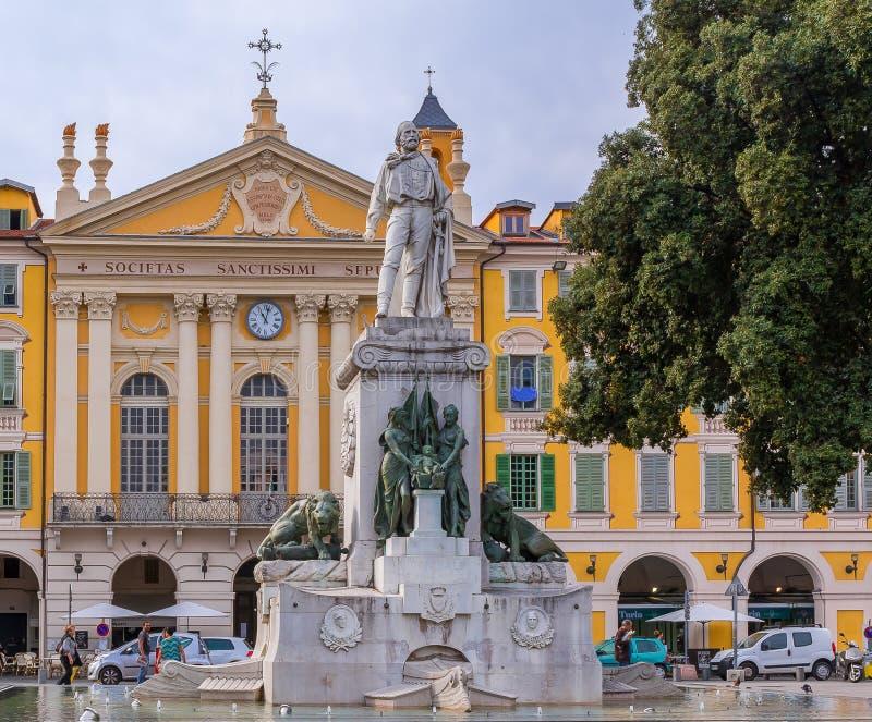 Giuseppe Garibaldi Statue Nizza in Francia immagine stock libera da diritti