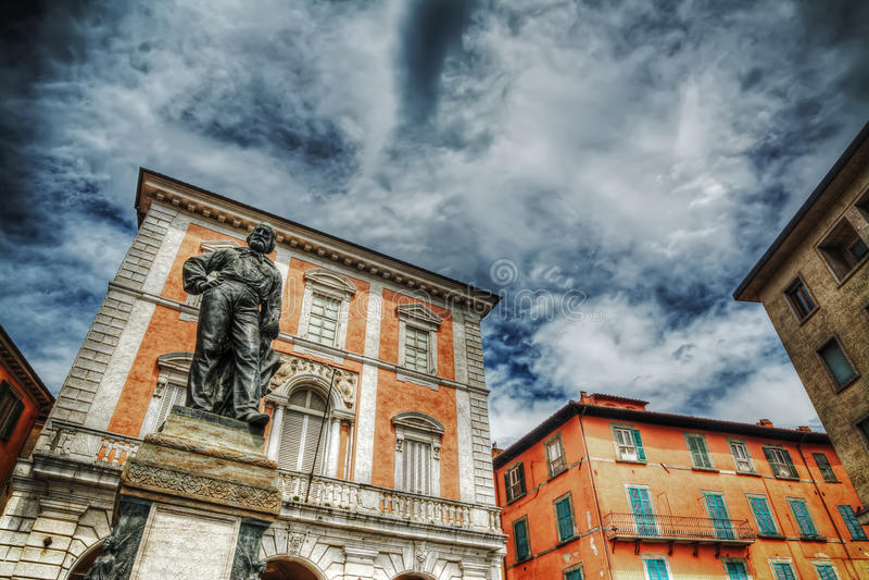 Giuseppe Garibaldi statue in Pisa royalty free stock image