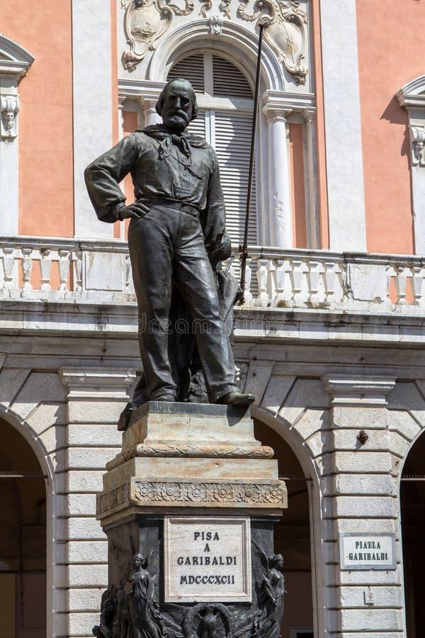 Giuseppe Garibaldi statue in Pisa, Italy stock photo