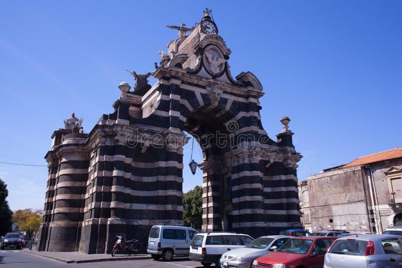 Giuseppe Garibaldi triumphal arch royalty free stock photo