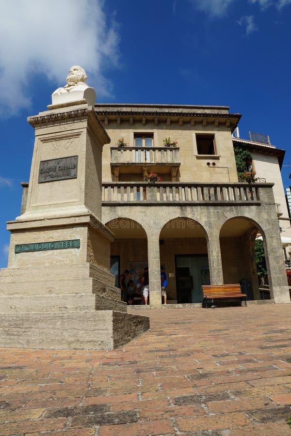 Giuseppe Garibaldi zabytek, San Marino, Europa obrazy stock