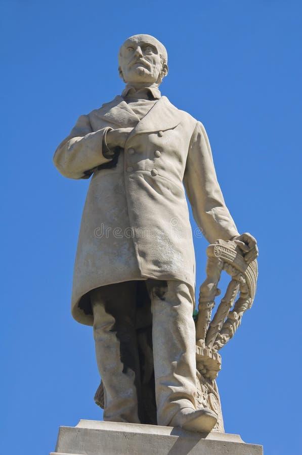 Giuseppe Mazzini Statue. Perspective of Giuseppe Mazzini Statue royalty free stock photography