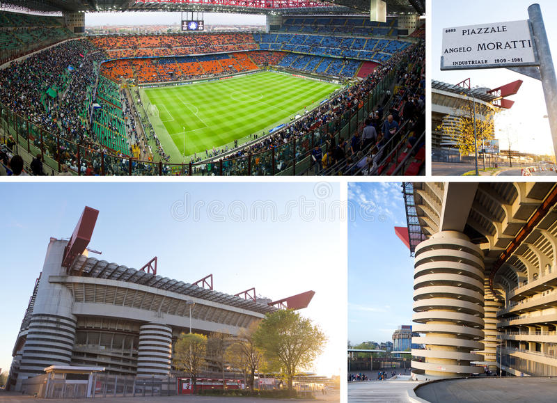 Giuseppe Meazza soccer stadium in Milan, Italy. Also known as San Siro royalty free stock image