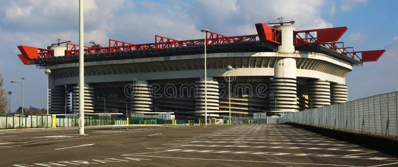 Giuseppe Meazza stadium w Mediolan, Włochy zdjęcie stock