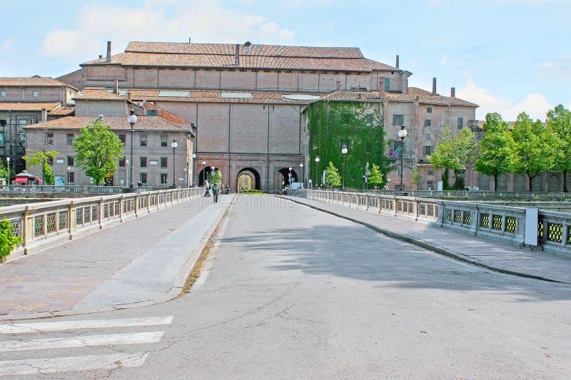Giuseppe Verdi-brug in Parma stock foto's