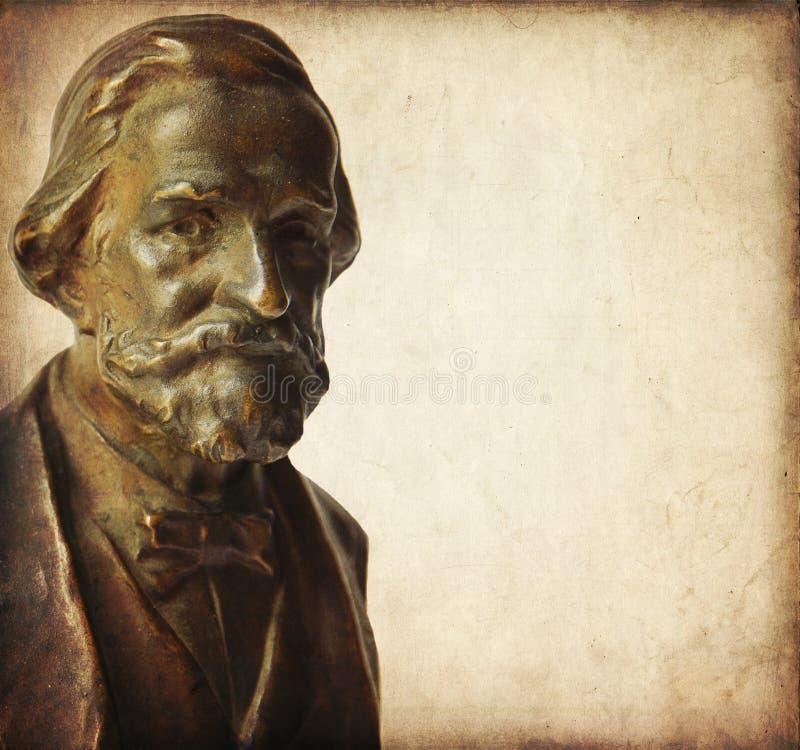 Giuseppe verdi. Bust of Giuseppe Verdi, famous Italian composer royalty free stock photo