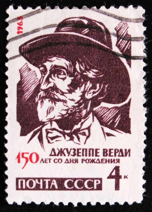 Giuseppe Verdi 1813-1901, Italian composer, 150 birth anniversary, circa 1963 royalty free stock images