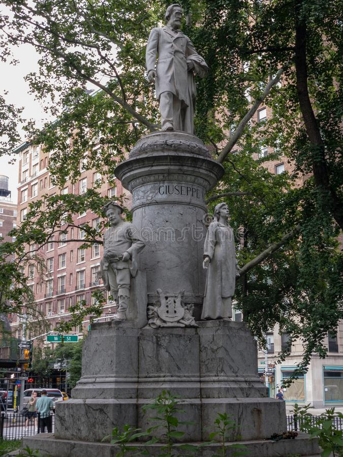 Giuseppe Verdi Monument - New York City royalty free stock photo