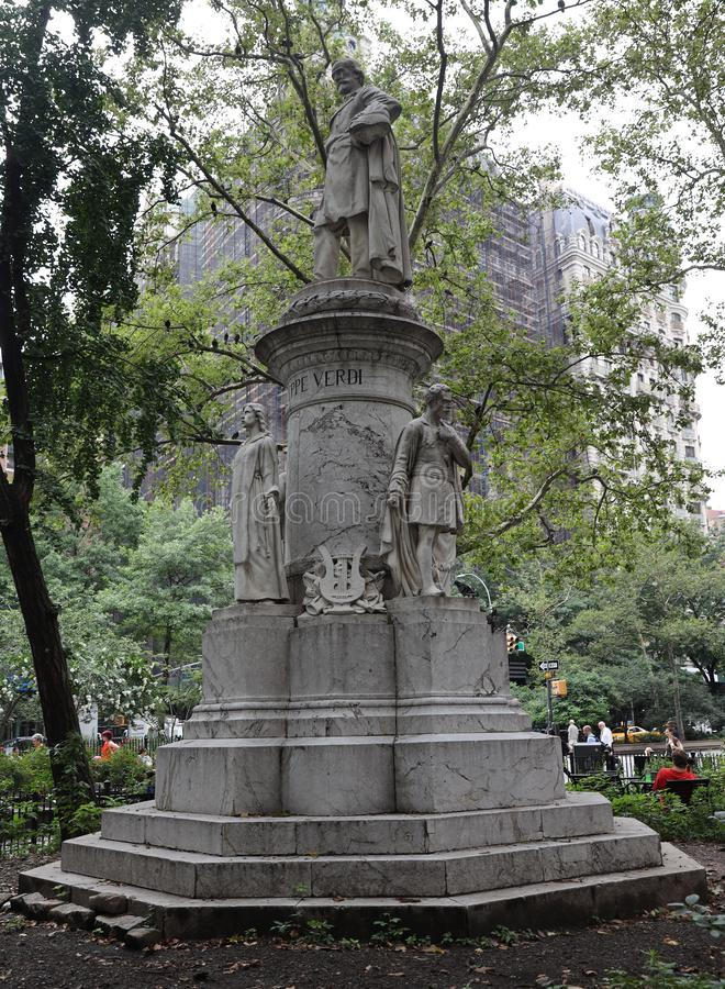 The Giuseppe Verdi Monument by Pasquale Civiletti in New York royalty free stock images