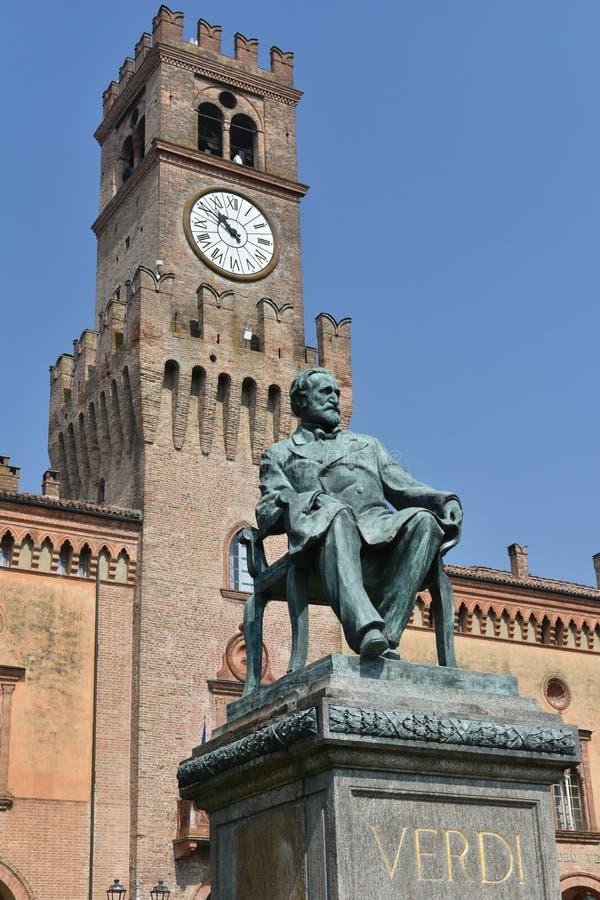 Giuseppe Verdi Square fotografia stock libera da diritti
