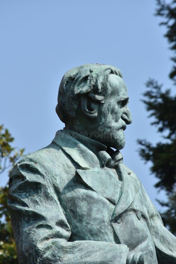 Giuseppe Verdi Statue fotografia stock