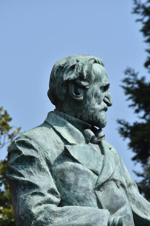Giuseppe Verdi Statue. In Busseto, Parma, Italy stock photography