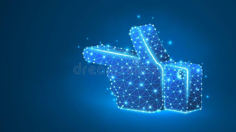 Giusta direzione umana di rappresentazione della siluetta della mano Segnale di direzione, modo di affari, concetto del touch scr illustrazione vettoriale