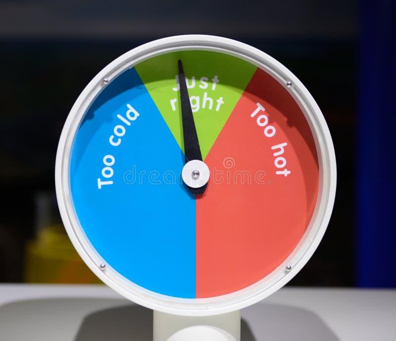 Giusta temperatura immagini stock