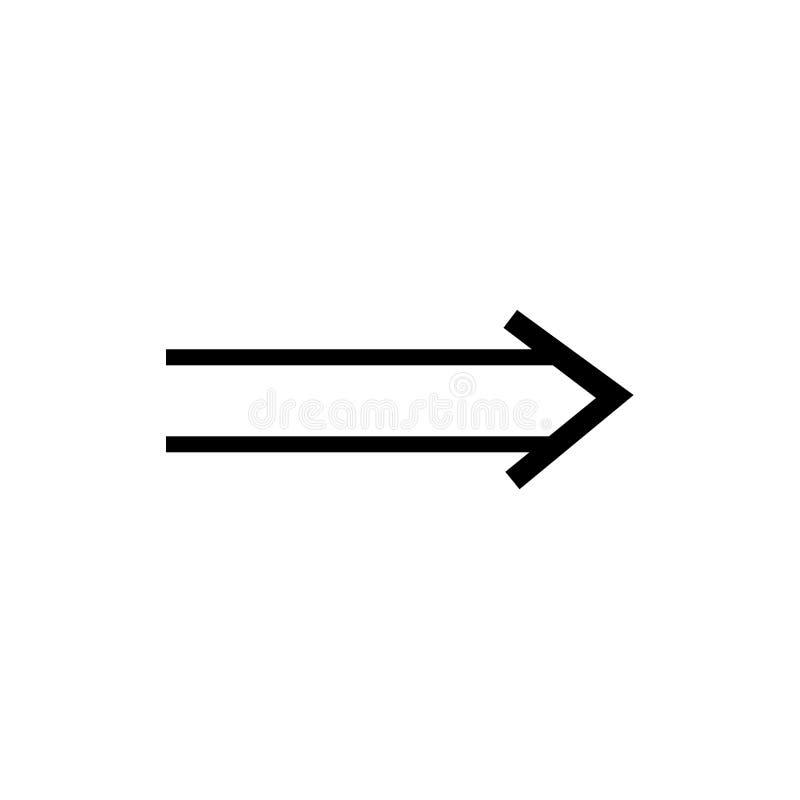 Giusti segno esile e simbolo di vettore dell'icona isolati su fondo bianco, giusto concetto esile di logo illustrazione di stock