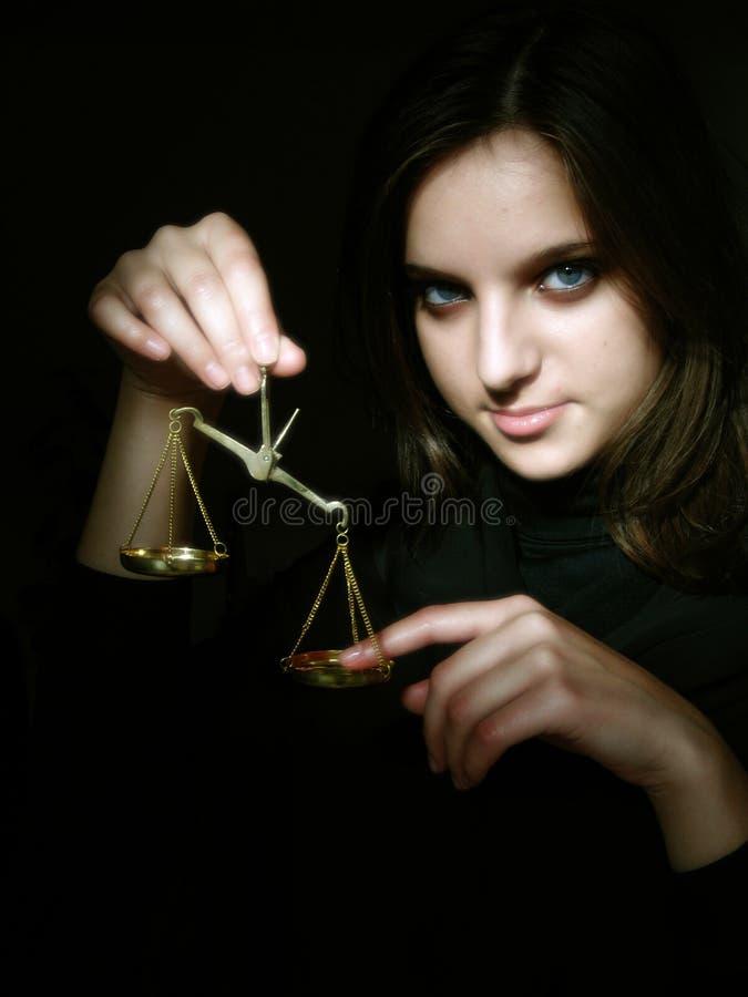Giustizia? ad un prezzo fotografia stock libera da diritti