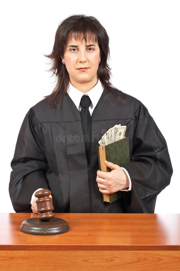 Giustizia che accetta un dono immagini stock